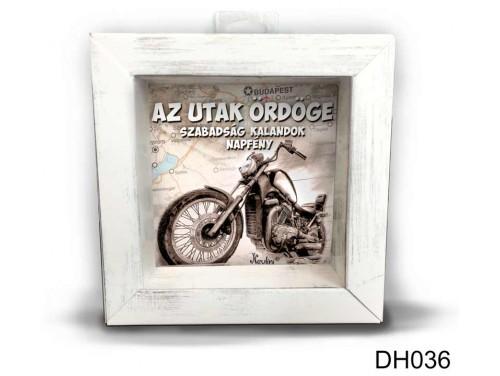 (DH036) Kicsi 3D Képkeret 11,2 cm x 11, 2 cm - Az utak ördöge - Ajándékok Motorosoknak