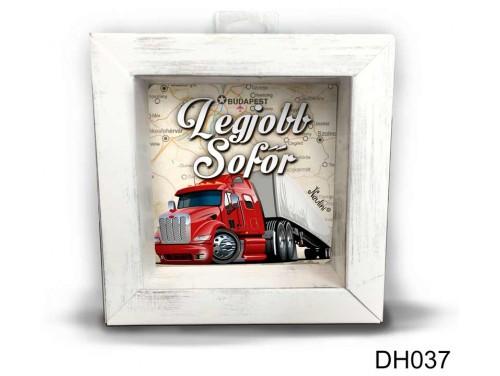 (DH037) Kicsi 3D Képkeret 11,2 cm x 11, 2 cm - Legjobb sofőr - Ajándék Sofőröknek