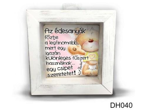 (DH040) Kicsi 3D Képkeret 11,2 cm x 11, 2 cm - Az édesanyák főztje - Ajándék Anyáknak - Anyák napi ajándékok