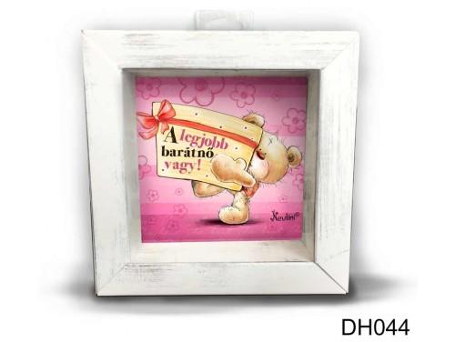 (DH044) Kicsi 3D Képkeret 11,2 cm x 11, 2 cm - A legjobb barátnő - Ajándékok Barátnőnek