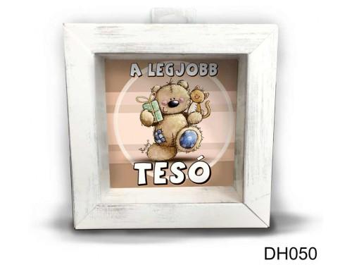(DH050) Kicsi 3D Képkeret 11,2 cm x 11, 2 cm - A legjobb tesó - Tesós Ajándékok