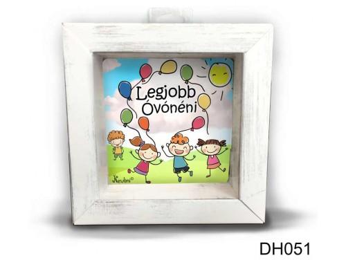 (DH051) Kicsi 3D Képkeret 11,2 cm x 11, 2 cm - Legjobb Óvónéni - Ajándék Ötletek Óvónéniknek