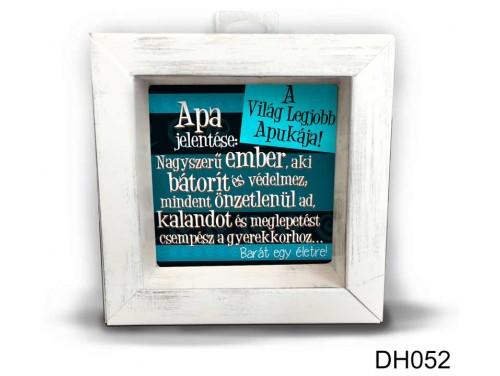 (DH052) Kicsi 3D Képkeret 11,2 cm x 11, 2 cm - Apa jelentése - Ajándék Apák napjrára - Ajándék Apáknak