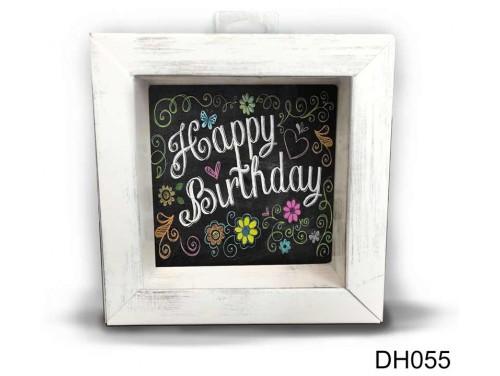 (DH055) Kicsi 3D Képkeret 11,2 cm x 11, 2 cm - Fekete Happy Birthday - Szülinapi Ajándékok - Ajándék ötletek