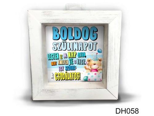 (DH058) Kicsi 3D Képkeret 11,2 cm x 11, 2 cm - Csodálatos fiús - Szülianpi Ajándékok - Ajándék ötletek