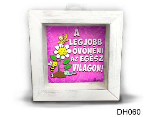 (DH060) Kicsi 3D Képkeret 11,2 cm x 11, 2 cm - A Legjobb óvónéni - Ajándék Ötletek Óvónéniknek