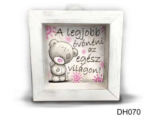 (DH070) Kicsi 3D Képkeret 11,2 cm x 11, 2 cm - A legjobb óvónéni - Ajándék Óvónőknek