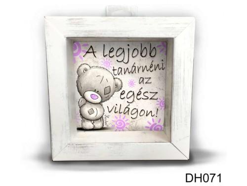 (DH071) Kicsi 3D Képkeret 11,2 cm x 11, 2 cm - A legjobb tanárnéni - Ajándék Pedagógusoknak