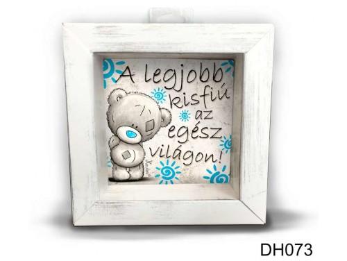 (DH073) Kicsi 3D Képkeret 11,2 cm x 11, 2 cm - A legjobb kisfiú - Ajándék Gyerekeknek