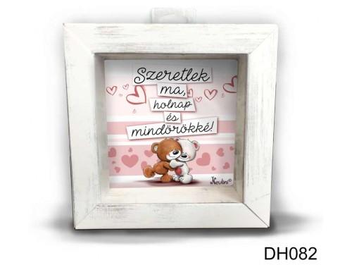(DH082) Kicsi 3D Képkeret 11,2 cm x 11, 2 cm - Szeretlek ma, holnap - Valentin napi ajándékok - Szerelmes ajándékok
