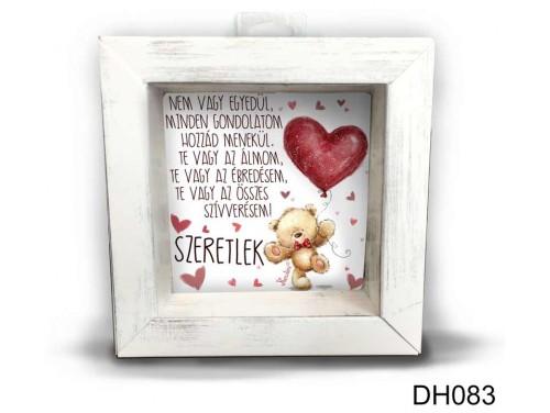(DH083) Kicsi 3D Képkeret 11,2 cm x 11, 2 cm - Nem vagy egyedül - Szerelmes ajándékok - Valentin napi ajándékok
