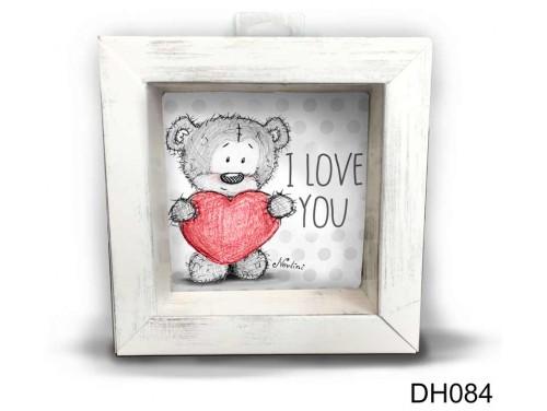 (DH084) Kicsi 3D Képkeret 11,2 cm x 11, 2 cm - Szives Nevlini - Szerelmes ajándékok - Valentin napi ajándékok