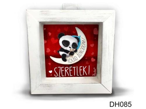 (DH085) Kicsi 3D Képkeret 11,2 cm x 11, 2 cm - Rólad álmodom - Szerelmes ajándékok - Valentin napi ajándékok