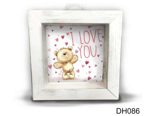 (DH086) Kicsi 3D Képkeret 11,2 cm x 11, 2 cm - Sok szives love you - Szerelmes ajándékok - Valentin napi ajándékok