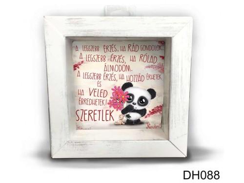 (DH088) Kicsi 3D Képkeret 11,2 cm x 11, 2 cm - Legszebb érzés - Szerelmes ajándékok - Valentin napi ajándékok