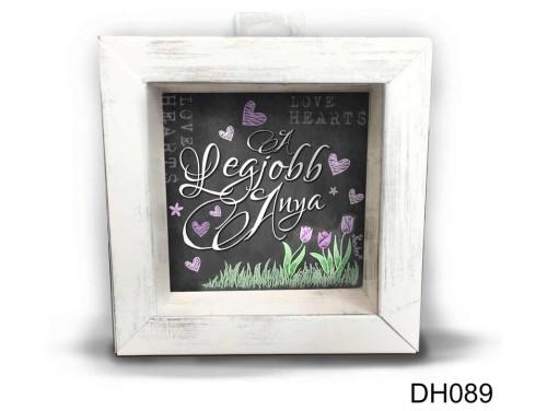 (DH089) Kicsi 3D Képkeret 11,2 cm x 11, 2 cm - A legjobb anya - Ajándék anyáknak - Anyák napi ajándékok