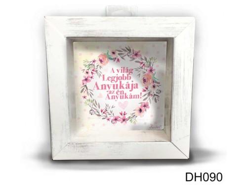 (DH090) Kicsi 3D Képkeret 11,2 cm x 11, 2 cm - A világ legjobb anyukája - Ajándék anyáknak - Anyák Napi Ajándékok