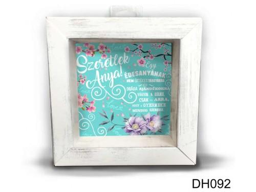 (DH092) Kicsi 3D Képkeret 11,2 cm x 11, 2 cm - Édesanya - Ajándék anyukáknak - Anyák napi ajándékok