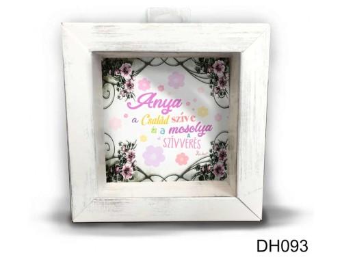 (DH093) Kicsi 3D Képkeret 11,2 cm x 11, 2 cm - Anya a család szíve - Ajándék Anyukáknak - Anyák napi ajándékok