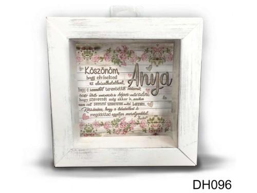 (DH096) Kicsi 3D Képkeret 11,2 cm x 11, 2 cm - Köszönöm anya - Ajándék anyukáknak - Anyák napi ajándékok