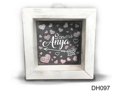 (DH097) Kicsi 3D Képkeret 11,2 cm x 11, 2 cm - Szeretlek anya - Ajándék Anyukádnak - Anyák Napi ajándékok