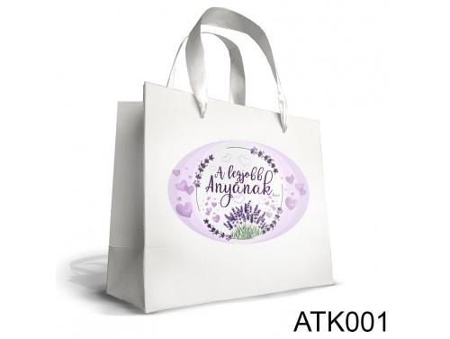 (ATK001) Kicsi Dísztasak 18cm x 21cm - A legjobb anyának - Ajándéktasak - Ajándék Anyáknak