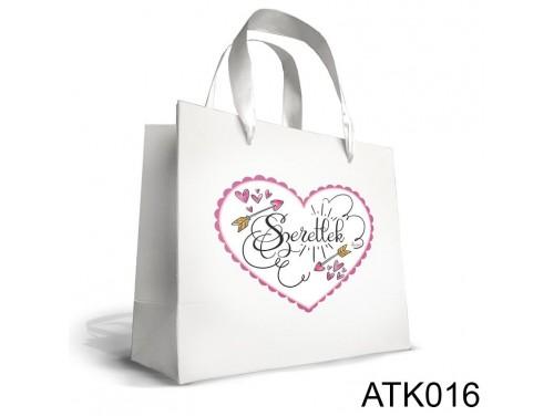 (ATK016) Kicsi Dísztasak 18cm x 21cm - Szeretlek nyilas - Ajándéktasakok - Szerelmes Ajándék