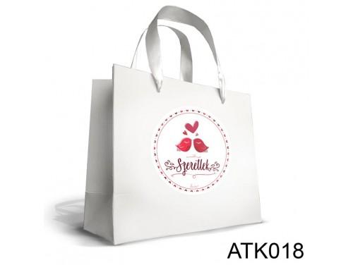 (ATK018) Kicsi Dísztasak 18cm x 21cm - Szeretlek Madárkás - Valentin Napi Ajándék