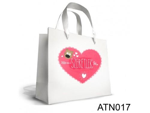 (ATN017) Nagy Dísztasak 25cm x 32 cm - Szeretlek macis - Ajándék Valentin napra