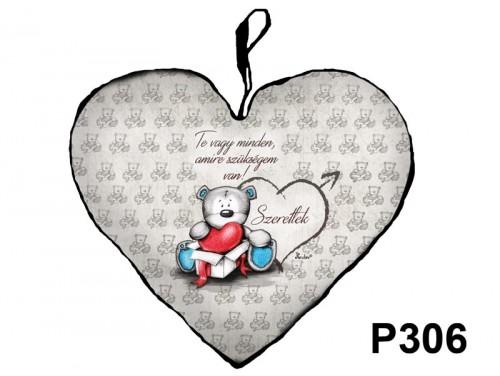 (P306) Párna Nagy Szív 45cm - Te vagy minden - Valentin Napi Ajándékok - Szerelmes Ajándékok