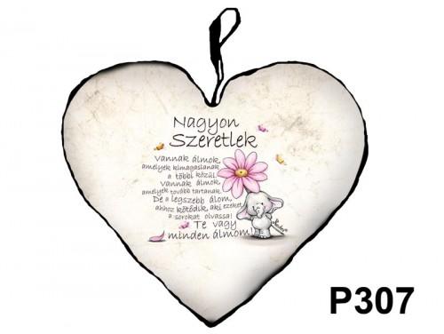 (P307) Párna Nagy Szív 45cm - Vannak álmok - Valentin Napi Ajándékok - Szerelmes Ajándékok