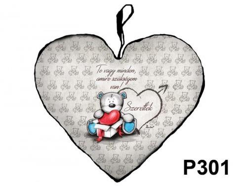(P301) Párna Kis Szív 25cm - Te vagy minden - Valentin Napi Ajándékok - Szerelmes Ajándékok