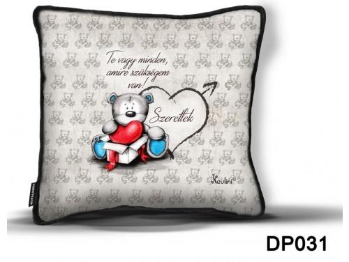 (DP031) Díszpárna 26 cm x 26 cm - Te vagy minden - Valentin Napi Ajándékok - Szerelmes Ajándékok