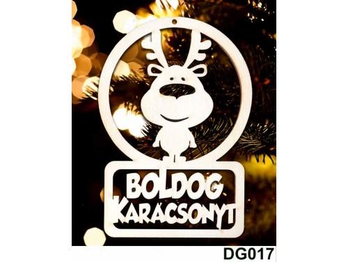 (DG017) Karácsonyi Díszgömb - Boldog Karácsonyt Rénszarvas – Karácsonyfa díszek - Karácsonyi Ajándék Ötletek