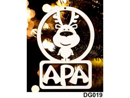 (DG019) Karácsonyi Díszgömb - Apa Rénszarvas – Karácsonyfa díszek – Karácsonyi ajándék ötletek