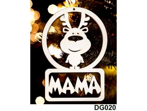 (DG020) Karácsonyi Díszgömb - Mama Rénszarvas – Karácsonyfa dísz – Karácsonyi ajándék