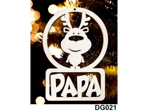 (DG021) Karácsonyi Díszgömb - Papa Rénszarvas – Karácsonyfa díszek – Karácsonyi ajándék ötletek