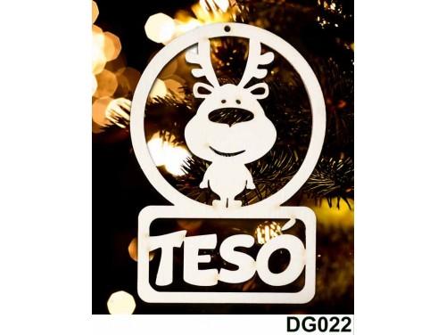 (DG022) Karácsonyi Díszgömb - Tesó Rénszarvas – Karácsonyfa díszek - Karácsonyi ajándék