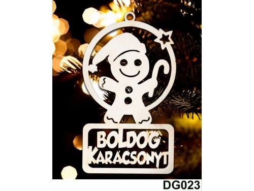 (DG023) Karácsonyi Díszgömb - Boldog Karácsonyt Mézi – Karácsonyfa díszek – Karácsonyi ajándék ötletek