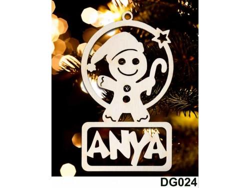 (DG024) Karácsonyi Díszgömb - Anya Mézi – Karácsonyfa díszek – Karácsonyi ajándék ötletek