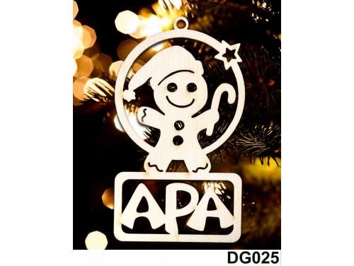 (DG025) Karácsonyi Díszgömb - Apa Mézi – Karácsonyfa díszek – Karácsonyi ajándék ötletek