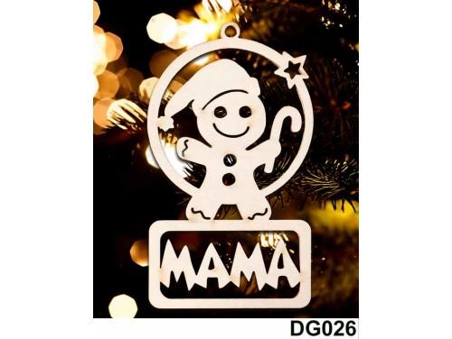 (DG026) Karácsonyi Díszgömb - Mama Mézi – Karácsonyfa dísz – Karácsonyi ajándék
