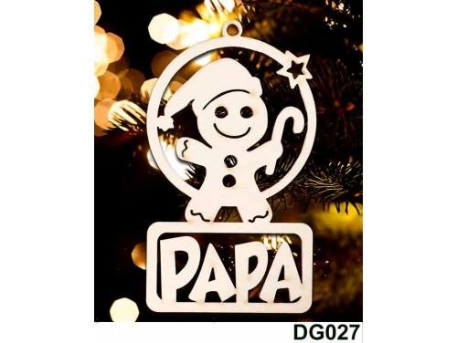 (DG027) Karácsonyi Díszgömb - Papa Mézi – Karácsonyfa díszek – Karácsonyi ajándék ötletek