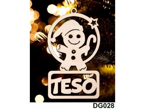 (DG028) Karácsonyi Díszgömb - Tesó Mézi – Karácsonyfa dísz – Karácsonyi ajándék