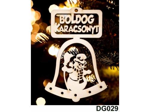 (DG029) Karácsonyi Díszgömb - Boldog Karácsonyt Csengő – Karácsonyfa díszek – Karácsonyi ajándék ötletek