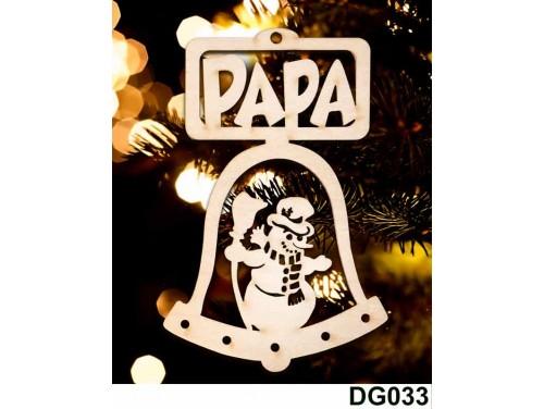 (DG033) Karácsonyi Díszgömb - Papa Csengő – Karácsonyfa díszek – Karácsonyi ajándék ötletek