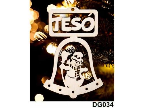 (DG034) Karácsonyi Díszgömb - Tesó Csengő – Karácsonyfa dísz – Karácsonyi ajándék