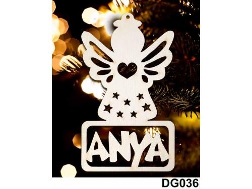 (DG036) Karácsonyi Díszgömb - Anya Angyal – Karácsonyfa díszek – Karácsonyi ajándék ötletek