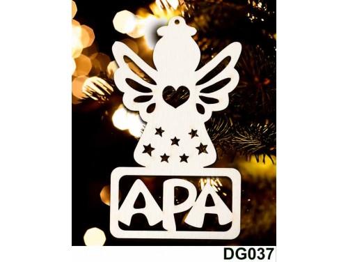 (DG037) Karácsonyi Díszgömb - Apa Angyal – Karácsonyfa díszek – Karácsonyi ajándék ötletek
