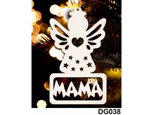 (DG038) Karácsonyi Díszgömb - Mama Angyal – Karácsonyfa dísz – Karácsonyi ajándék